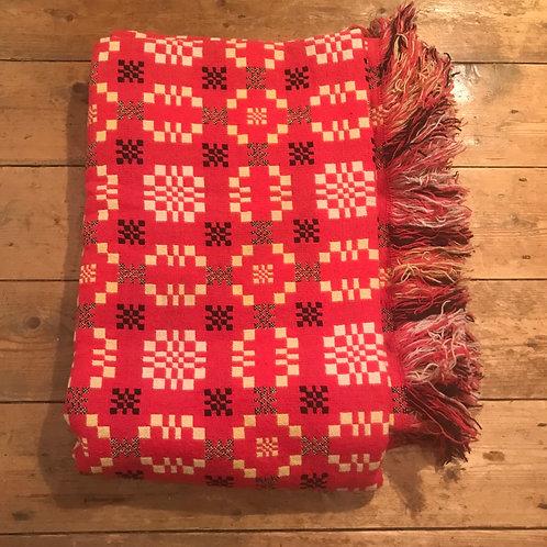 Antique Welsh Wool Blanket