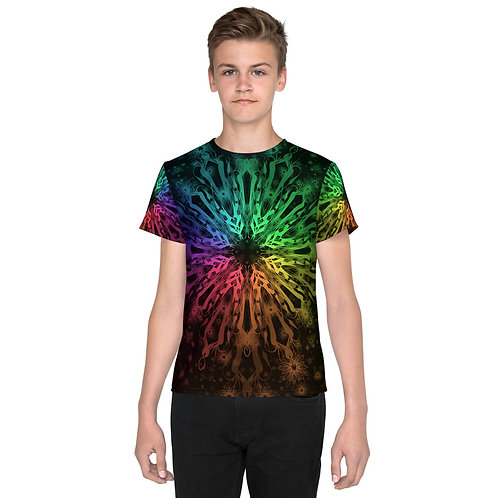 138. Elegant Bromeliad Snowflake Colorwild I Youth T-Shirt