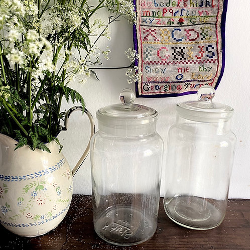 Vintage Glass Storage Jar