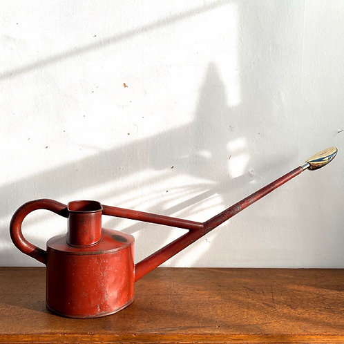 Vintage Red Long Spout Watering Can
