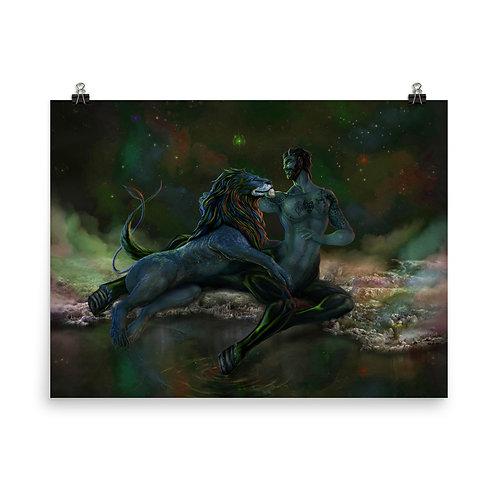 The Lion and the Centaur V2 | Matte finish Print