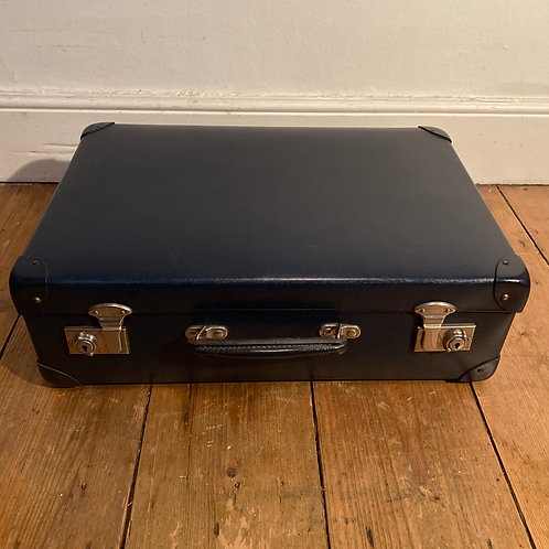 Tiny Vintage  Blue Globe Trotter Suitcase