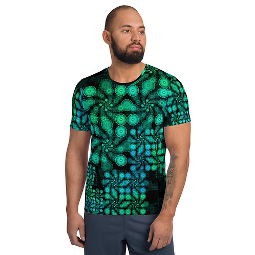 3T 2020 All-Over Print Men's Athletic T-shirt