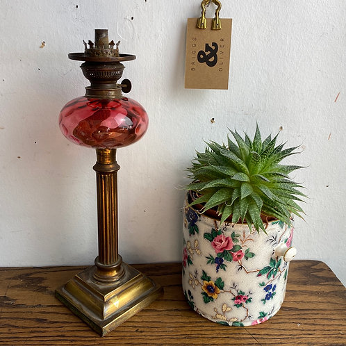 Antique Peg Oil Lamp