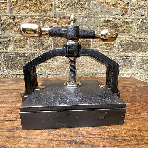Antique Iron & Brass Bookpress