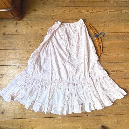 Antique Printed Cotton Petticoat Skirt