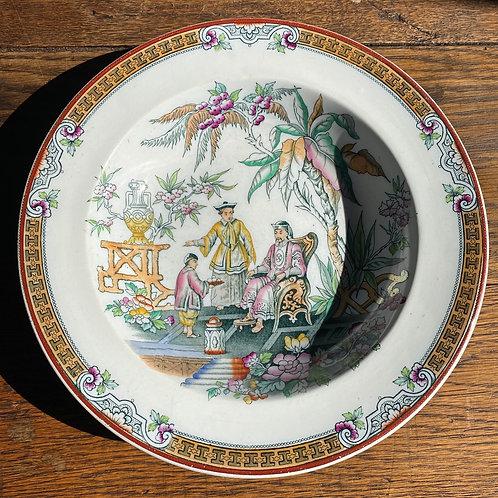 Antique Beech & Hancock Chinoiserie Soup Bowl