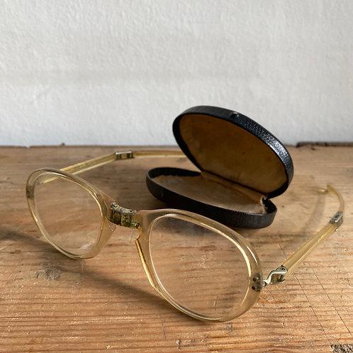 Vintage Folding Reading Glasses in Case