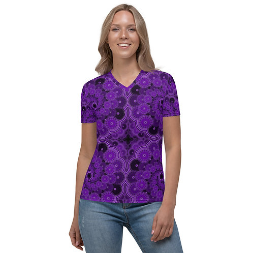 5Z21 Spectrum Violet Women's V-neck