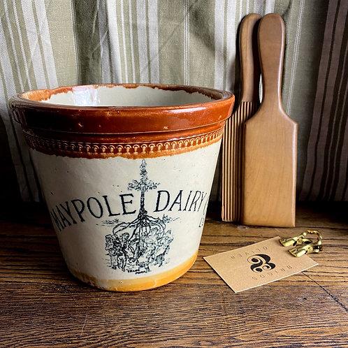 Antique 4 lb Maypole Dairy Co Ltd Butter Crock