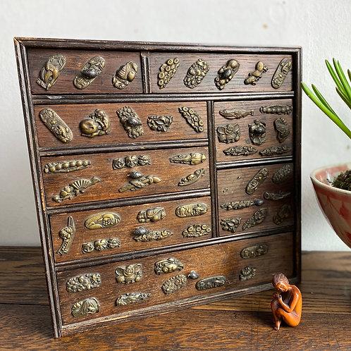 Miniature Antique Japanese Tansu