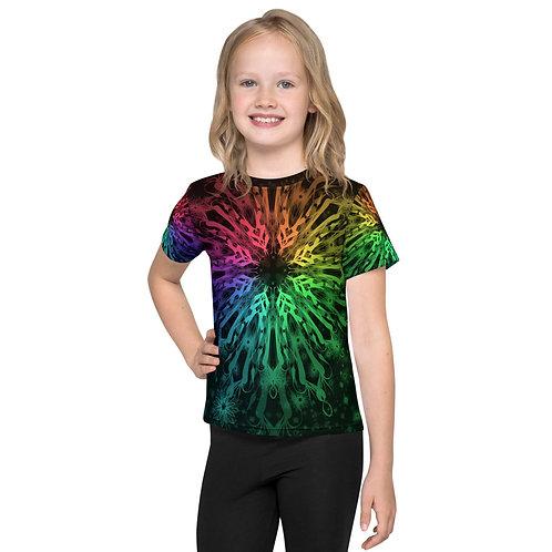 138V. Elegant Bromeliad Snowflake Colorwild IV Kids T-Shirt