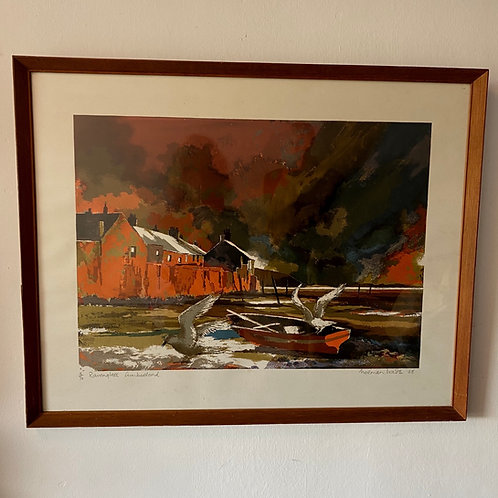 Original 1968 Screenprint 'Ravenglass' by Norman Wade