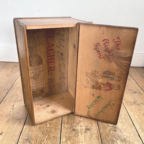 Wooden Advertising Whiskey Crate