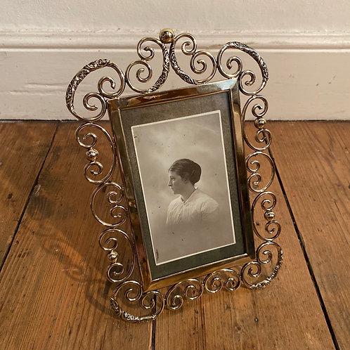 Antique Brass Photograph Frame