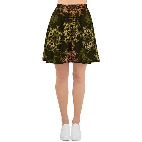 119 Stained Glass Colorwild I V3 Skater Skirt