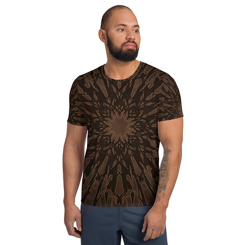 6AT2021 All-Over Print Men's Athletic T-shirt