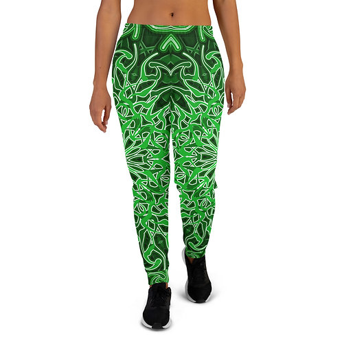 9X21 Spectrum Green Women's Joggers