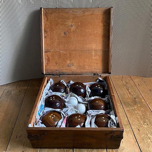 Antique Set of Lignum Vitae Lawn Bowls
