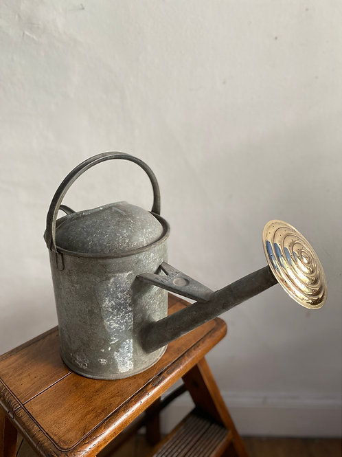 Vintage One Gallon Galvanised Watering Can