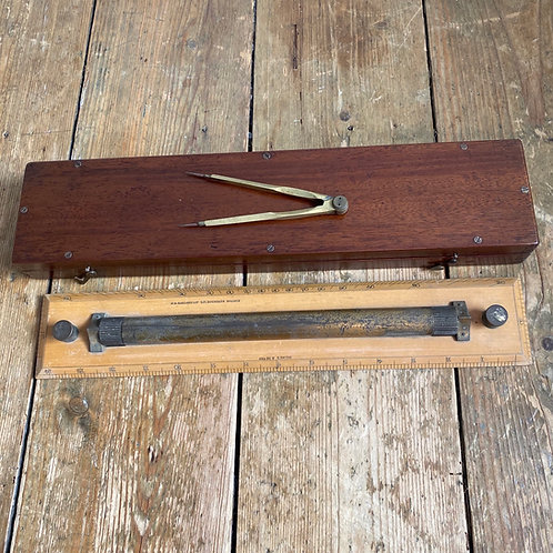 Antique Boxed Rolling Ruler
