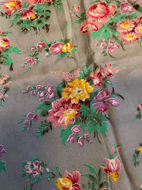 Original Vintage 1950's Cotton Chintz Fabric