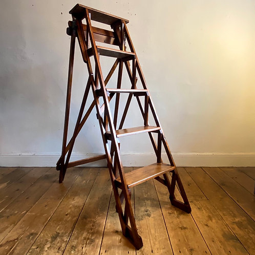 Edwardian Eclipse Household 'Skeleton' Ladder