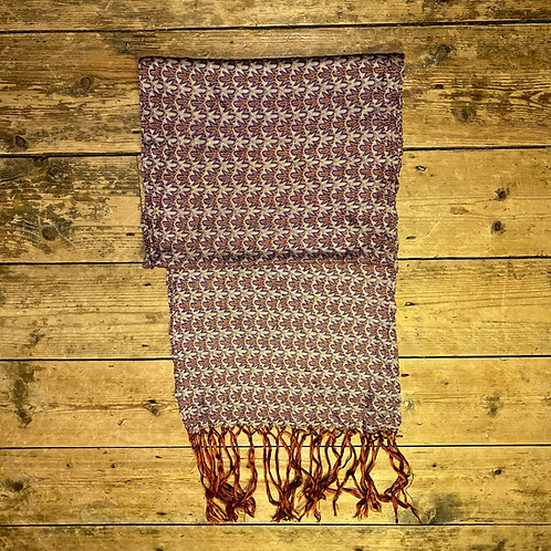 Vintage Knitted Silk Scarf