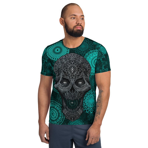 The Elaborate Death Aquamarine All-Over Print Men's Athletic T-shirt