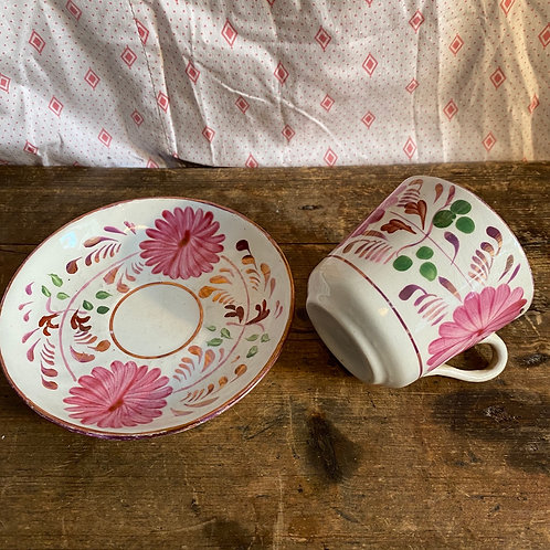 Small Lustre Cup and Saucer