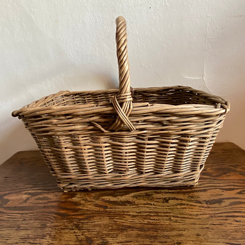 Small Antique Wicker Shopping Basket