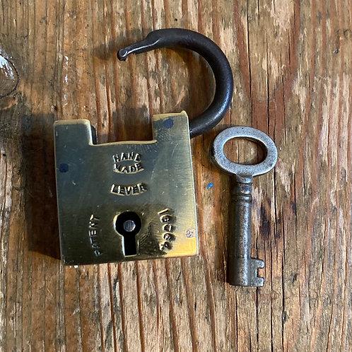Small Brass Handmade Padlock and Key