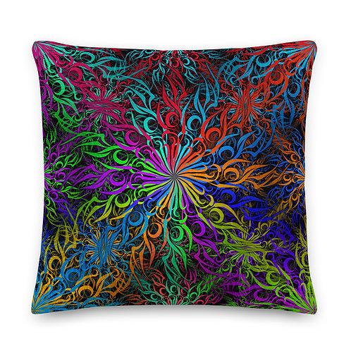 17A21 Spectrum Candy Swirl Premium Pillow