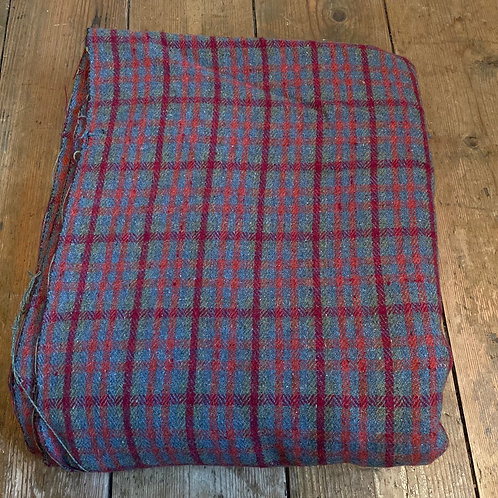 Vintage Wool Check Cloth
