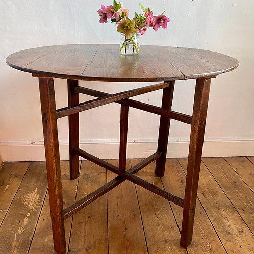 Antique Elm Trestle Table