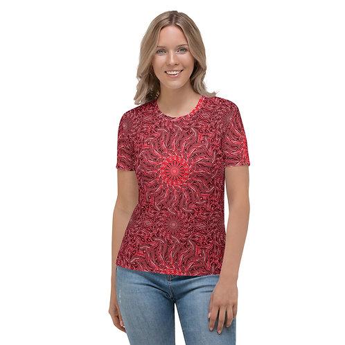 16N21 OddSpectrum Red Women's T-shirt