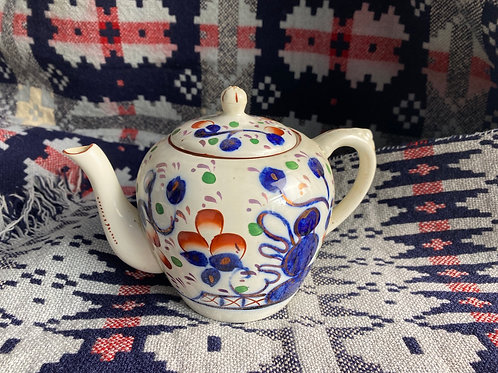 Antique Gaudy Welsh Teapot
