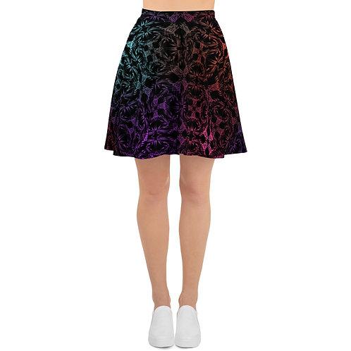13 Multicolor Crossing I Skater Skirt