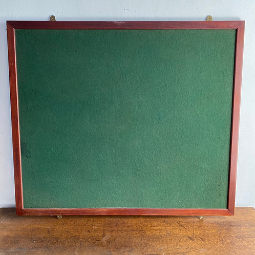 Large Mahogany Framed Notice Board