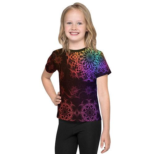 119V1 Stained Glass Colorwild I Kids T-Shirt