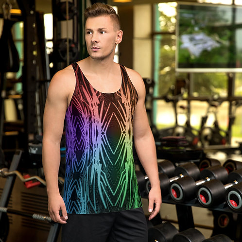 3A21 Spectrum Black Unisex Tank Top