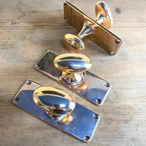 antique brass bronze doorknobs