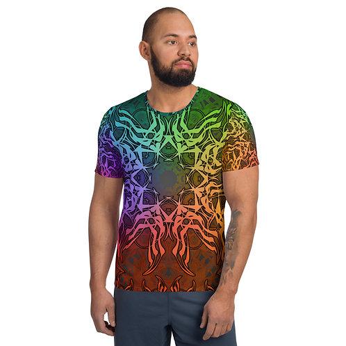 7C21 Spectrum Gray V2 All-Over Print Men's Athletic T-shirt