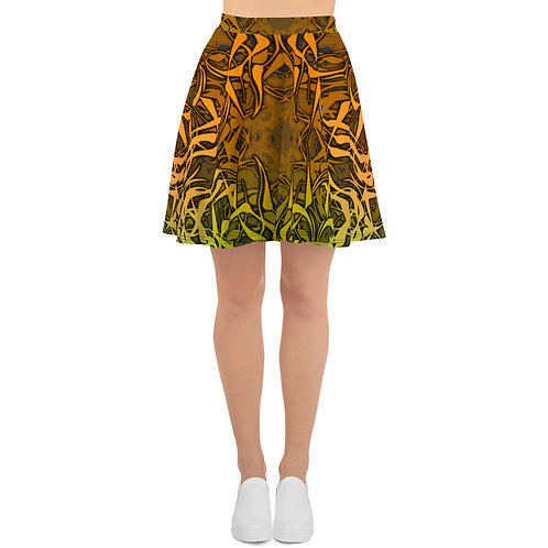 7C21 Spectrum Gray V4 Skater Skirt