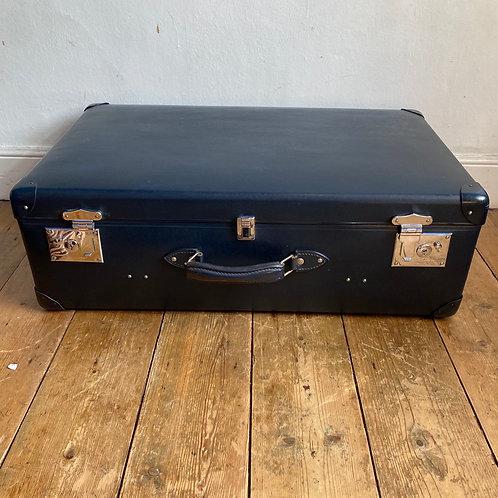 Vintage Large Blue Globe Trotter Suitcase