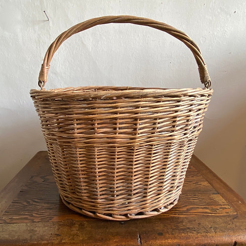 Vintage Wicker Bicycle Basket with Frame
