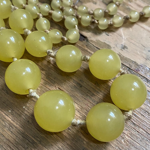 Long String of Vintage Glass Beads