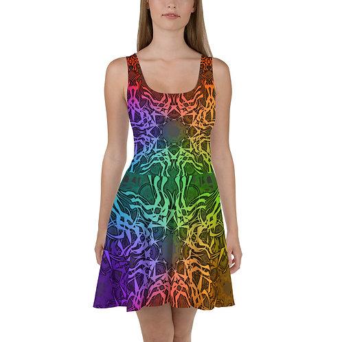 7C21 Spectrum Gray Skater Dress