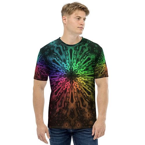 138. Elegant Bromeliad Snowflake Colorwild I Men's T-shirt