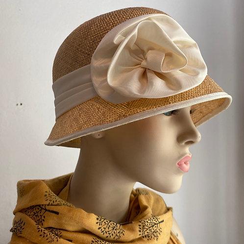 Vintage Straw Cloche Hat
